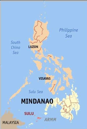 3 Mindanao and Sulu, Philippines - map by www.zamboanga.com
