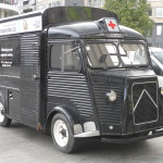 Citroën HY van 'mosselen.nl' aan Gent-Zuid