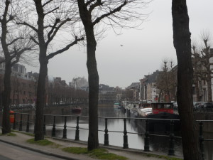 Visserij - zicht van op Loesbergskaai
