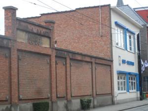 Sint-Salvatorstraat - restant ACEC muur