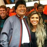 Evo Morales and Gabriela Zapata in better times - pic visorbolivia.wordpress.com