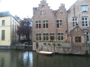 Zicht op Sint-Widostraat - Leie - Lieve
