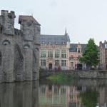 Sint-Widostraat - Leie/ Lieve - zicht op Gravensteen