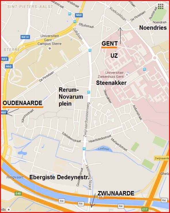 map Nieuw Gent