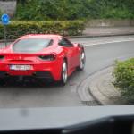Ferrari buiten Gent gespot