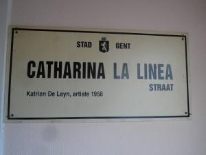 Catharina La Linea straat - onbestaand