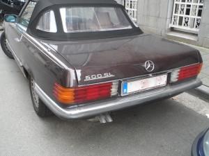 Mercedes 500 SL - jaren 80 -Gouvernementstraat