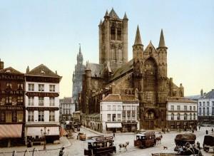 Sint-Niklaaskerk eind 19e eeuw - pic gentcement.be