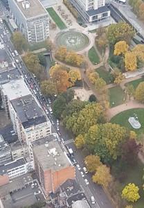 Franklin Rooseveltlaan - Albertpark - luchtfoto - pic locale politie gent op twitter
