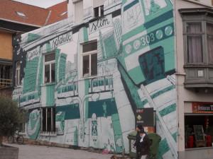 Sint-Pietersnieuwstraat - muurschildering