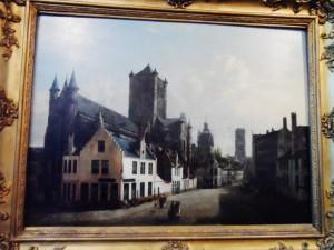 Cataloniëstraat - hoek Korenmarkt 1818 - Sint-Niklaaskerk - afbeelding in STAM