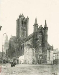 Korenmarkt - huis afgebroken in 1902 - postkaarten Albert Sugg - pic gentblogt.be