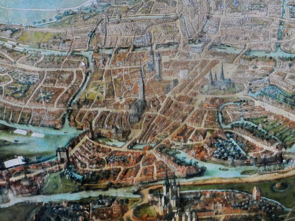 Stadsplan uit 1300 - in het STAM