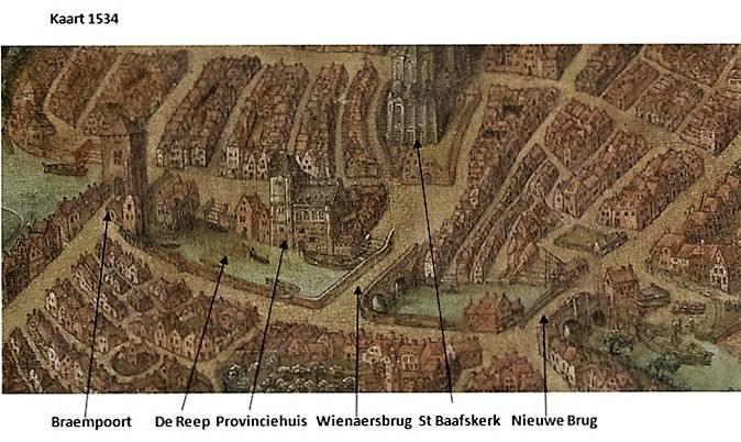 Afbeelding stadskaart van 1534