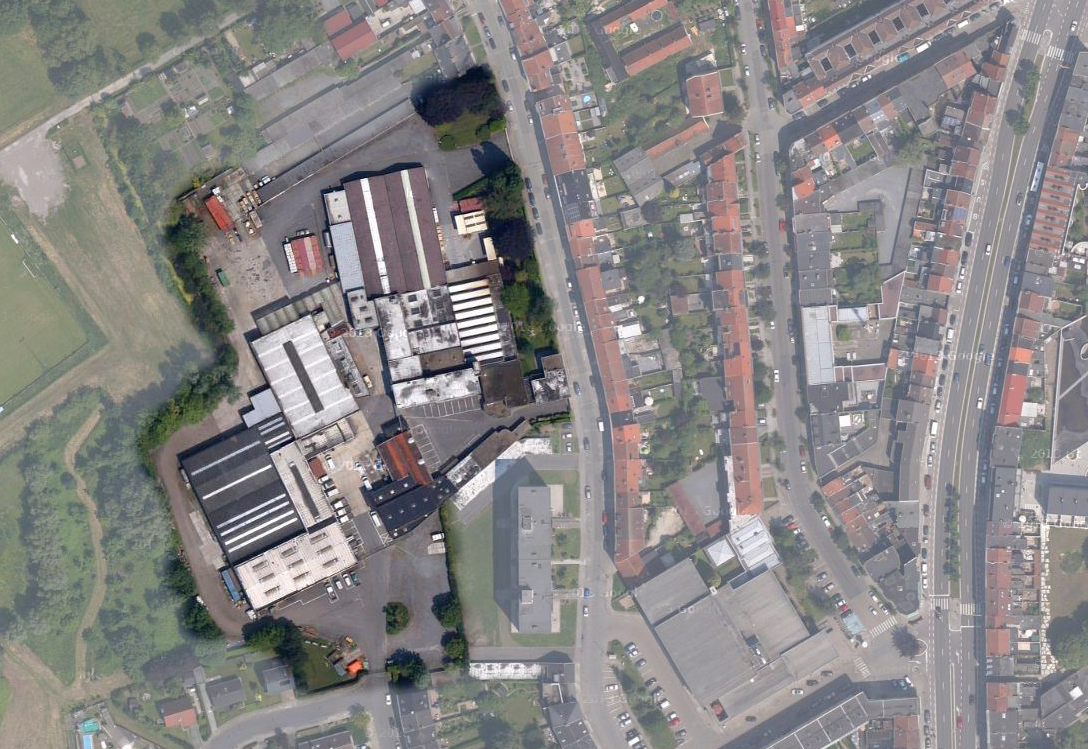 Verffabriek Libert aan Nekkersputstraat - buurt Peerstraat en Rooigemlaan