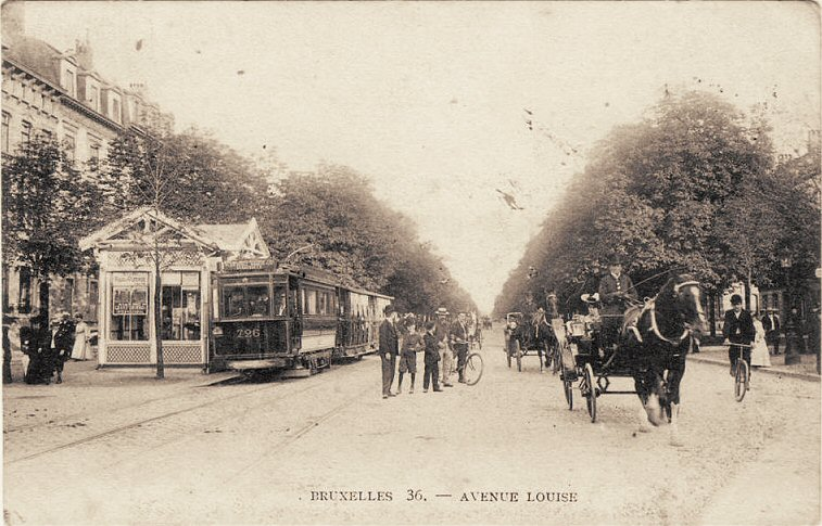 Brussel - Louizalaan - rond 1900 - pic .ebru.be