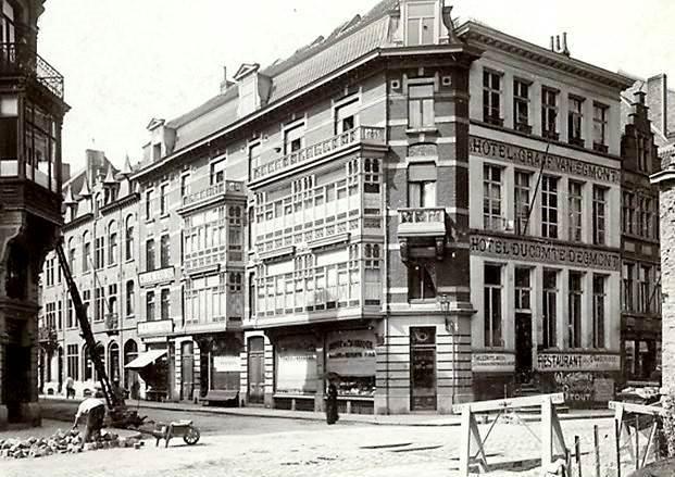 Cataloniestraat - hotelgevel waarachter ORIGINEEL verborgen zat - pic claude faseur