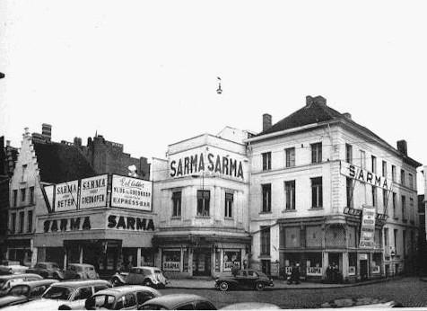 Korenmarkt met Sarma jaren 50 van voor de verbouwing - pic gent-door-de-jaren.be