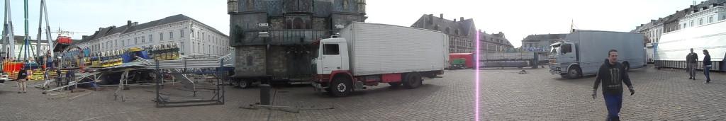 Sint-Pietersplein - halfvastenfoor opbouw