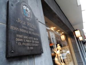 Henegouwenstraat - gedenkteken Rizal