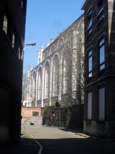 Sint-Annakerk - zicht vanuit Groene Ooie(