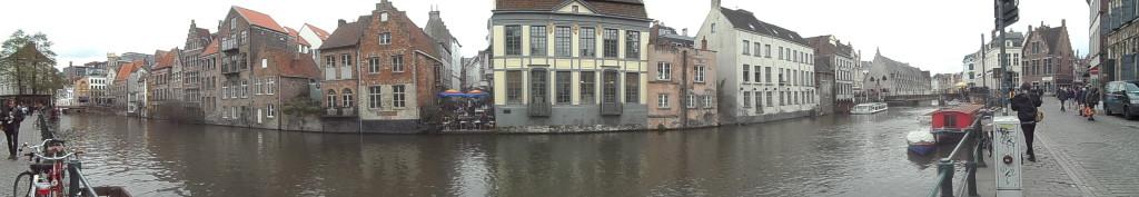 0 pano -Hoefslagstraatje - -Schoenlapperstraat - zicht vanuit Kraanlei - pano (2)