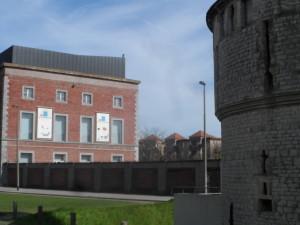Opgeëistenlaan - fabriek Charles en Louis de Hemptinne 1853 - achterkant Kolveniersgang