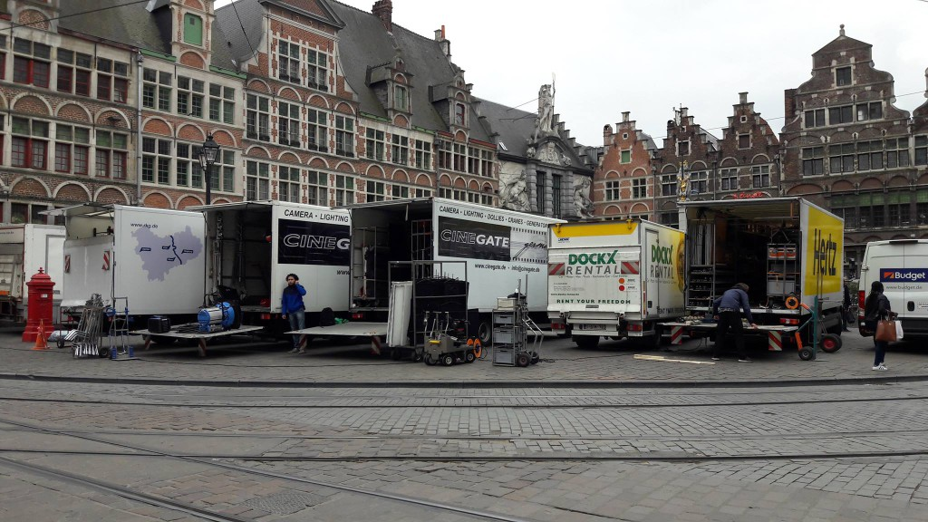 Sint-Veerleplein - Logistiek apparaat - pic Michel Delabarre