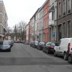 Vanuit Sint-Annaplein - richting Filips van Arteveldestraat - naar Koepoortkaai