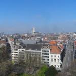 Zicht op Sint-Annaplein en Keizer Karelstraat vanuit de kerktoren