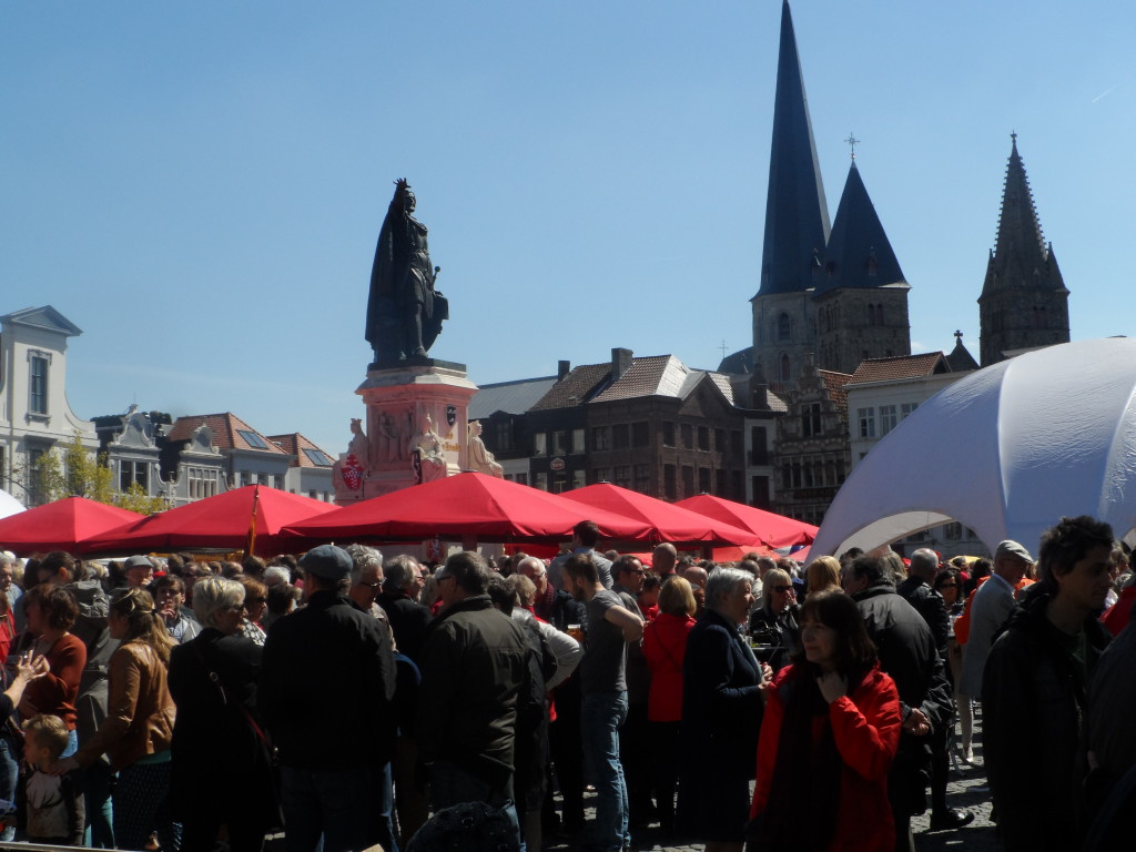 Vrijdagmarkt - Jacob van Artevelde - hier op 1 mei 2016