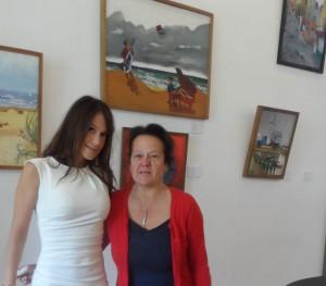 Expositie José Van Haelst - dochter Sarah en echtgenote Bernadette