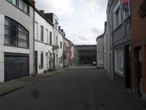 Voetweg - zijstraat Kramersplein - voorheen beluikwijk bij Muinkschelde