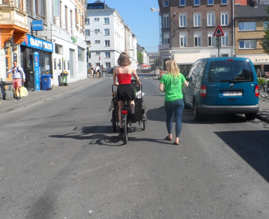 Overpoortstraat - oude bakfiets
