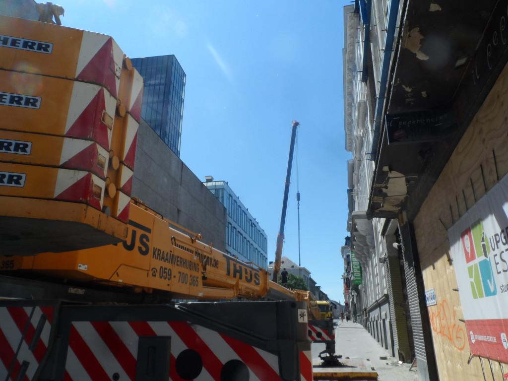 Sint-Pietersnieuwstraat - werken naast B&B Backstay