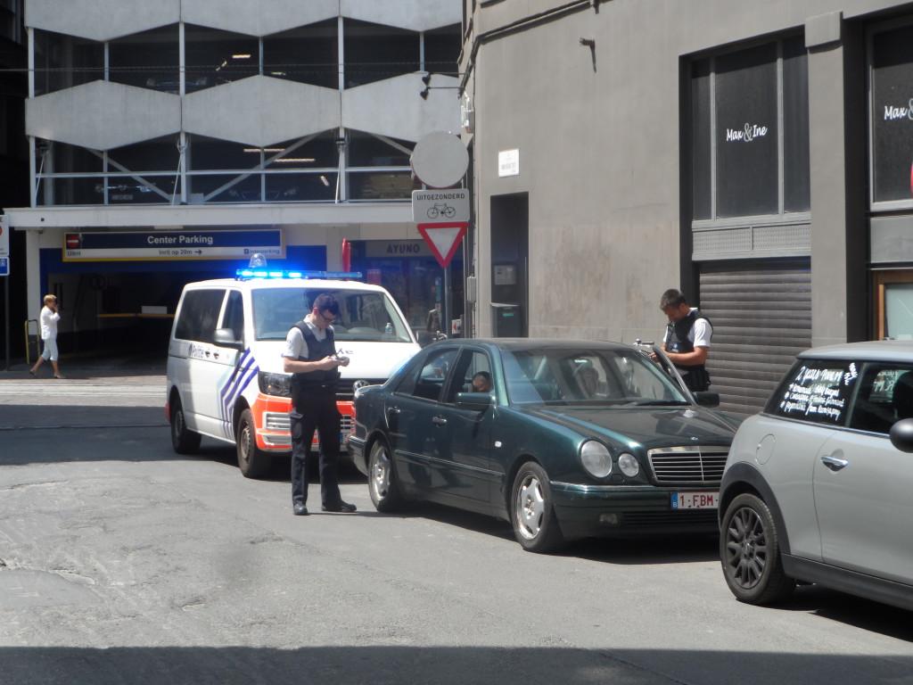 Universiteitstraat - politie controle