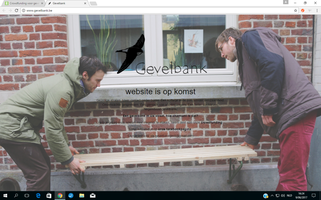 De gevelbank - website is op komst