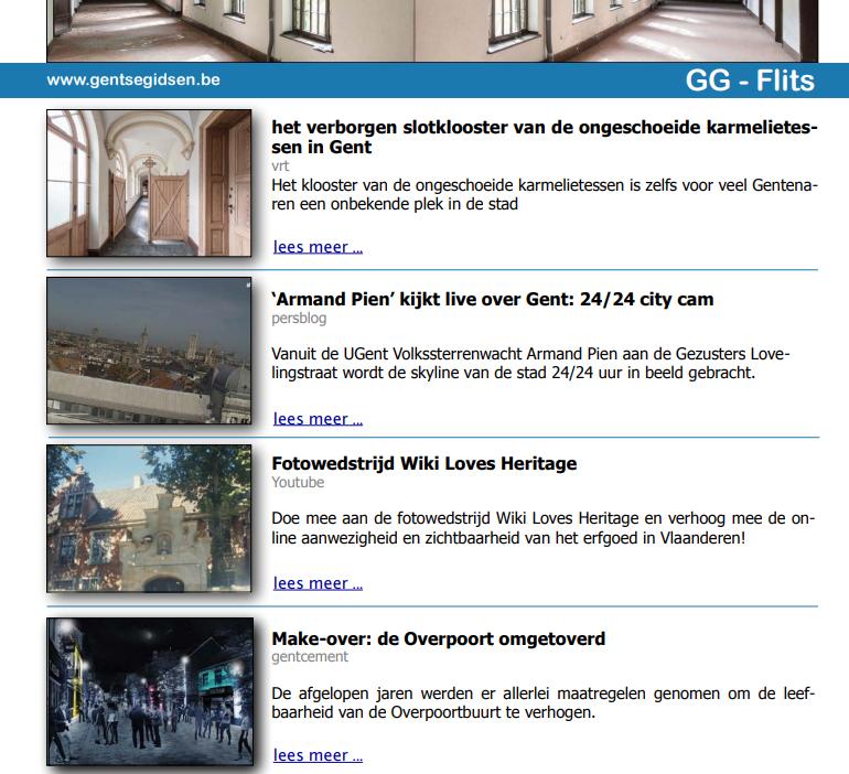 'Armand Pien' kijkt live over Gent