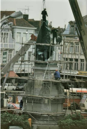 Werken standbeeld