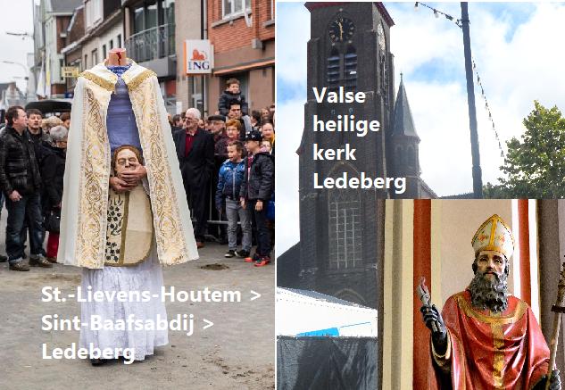 Valse heilige in kerk Ledeberg