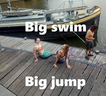 'Big swim - Big jump'