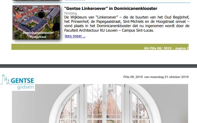 """Gentse """"linkeroever"""" in Dominicanenklooster"""