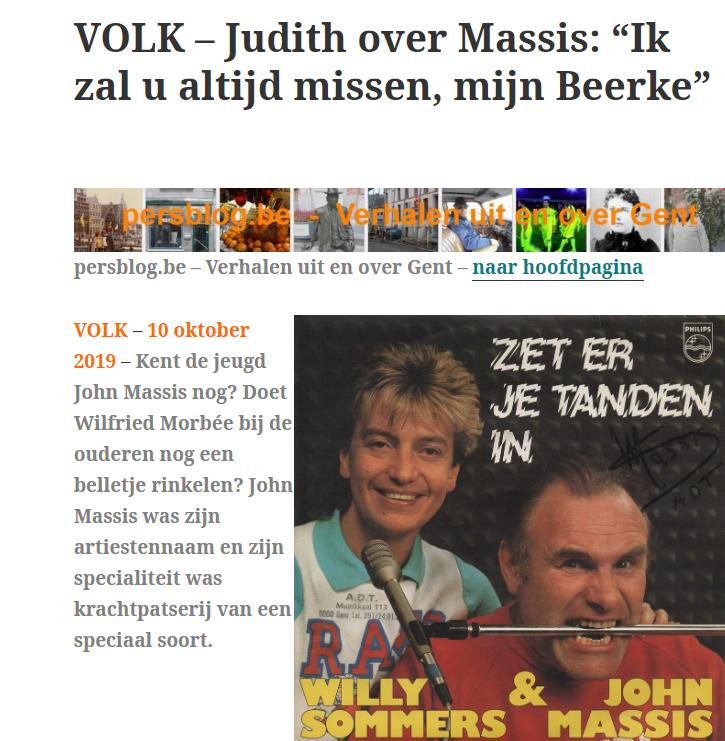 """Judith over Massis: """"Ik zal u altijd missen, mijn Beerke"""""""