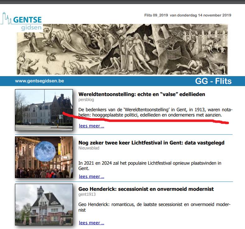 GG-Flits Gentse Gidsen nieuwsbrief 2019.11.14 Adel 1913