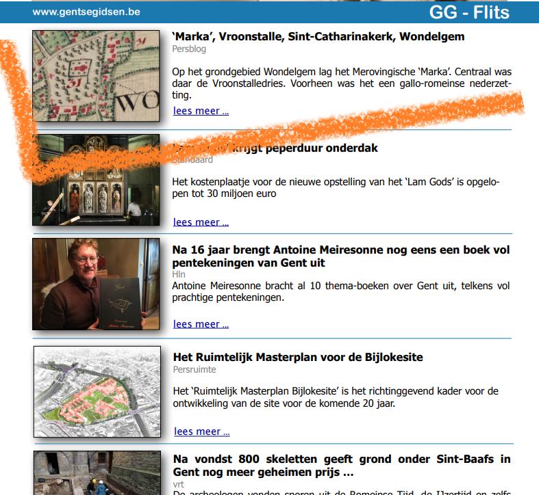 GG-Flits Gentse Gidsen nieuwsbrief 2019.12.10