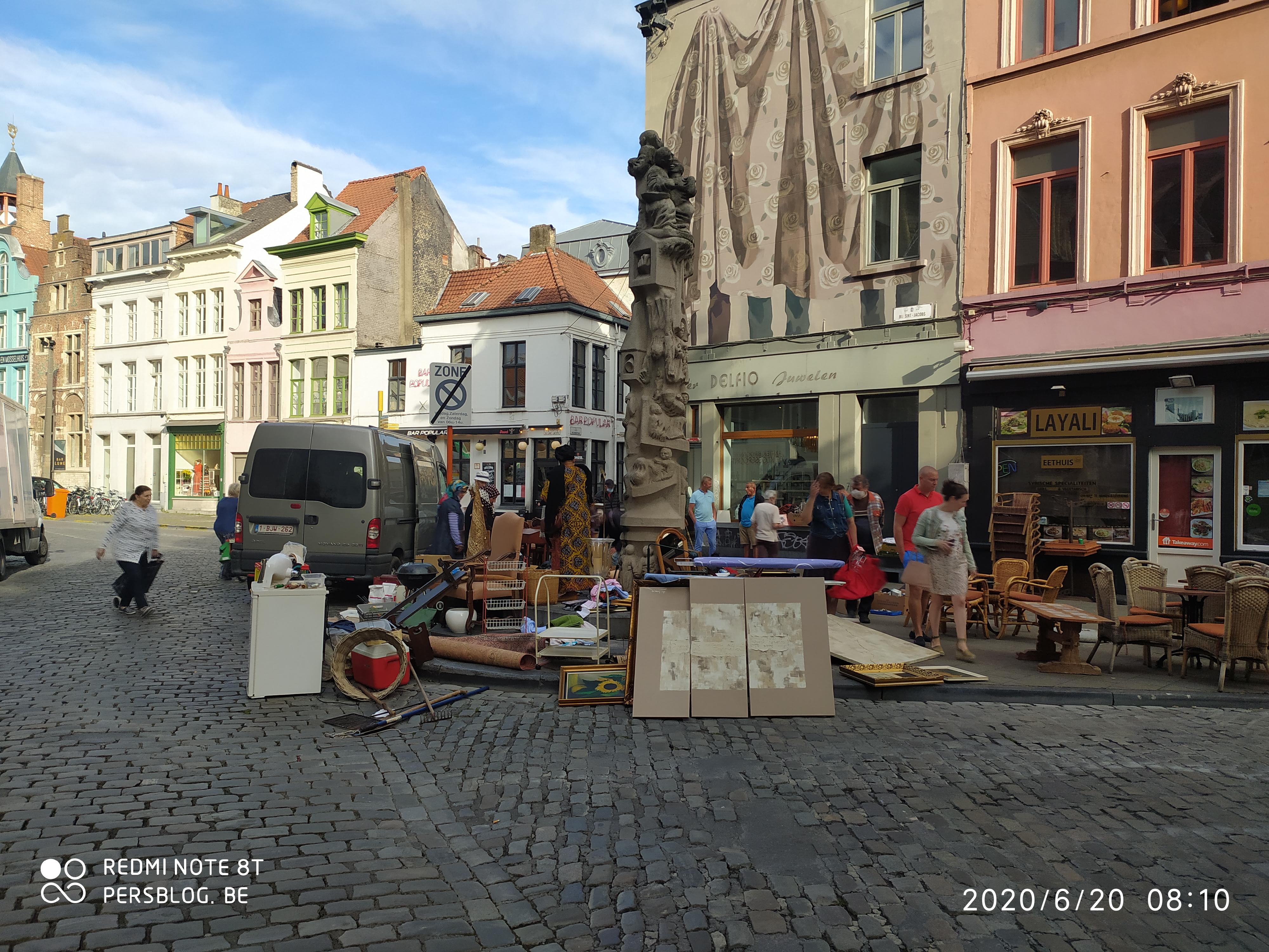 Bij Sint-Jacobs - Prondelmarkt - beeld Karel Waeri door Walter De Buck IMG_20200620_080909 (4)