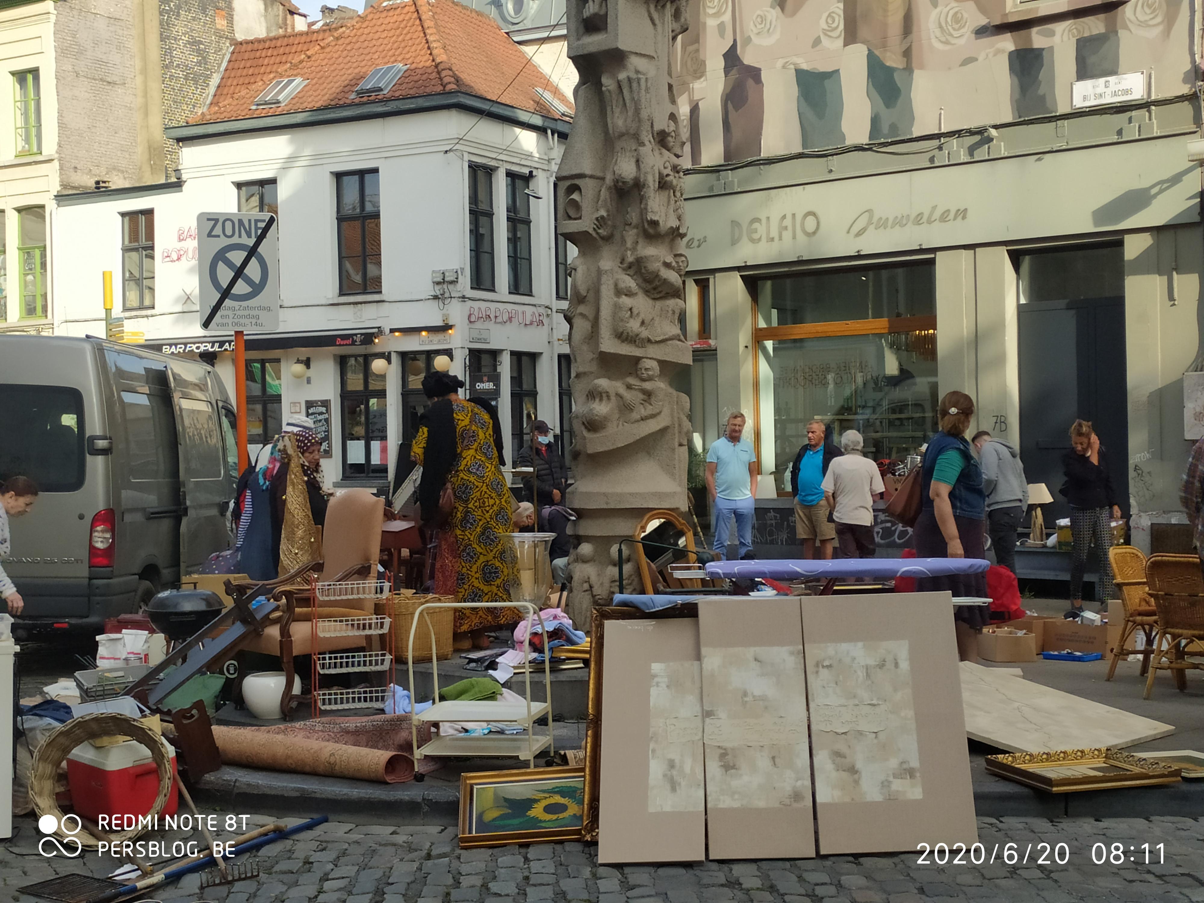 Bij Sint-Jacobs - Prondelmarkt - beeld Karel Waeri door Walter De Buck IMG_20200620_081104 (1)