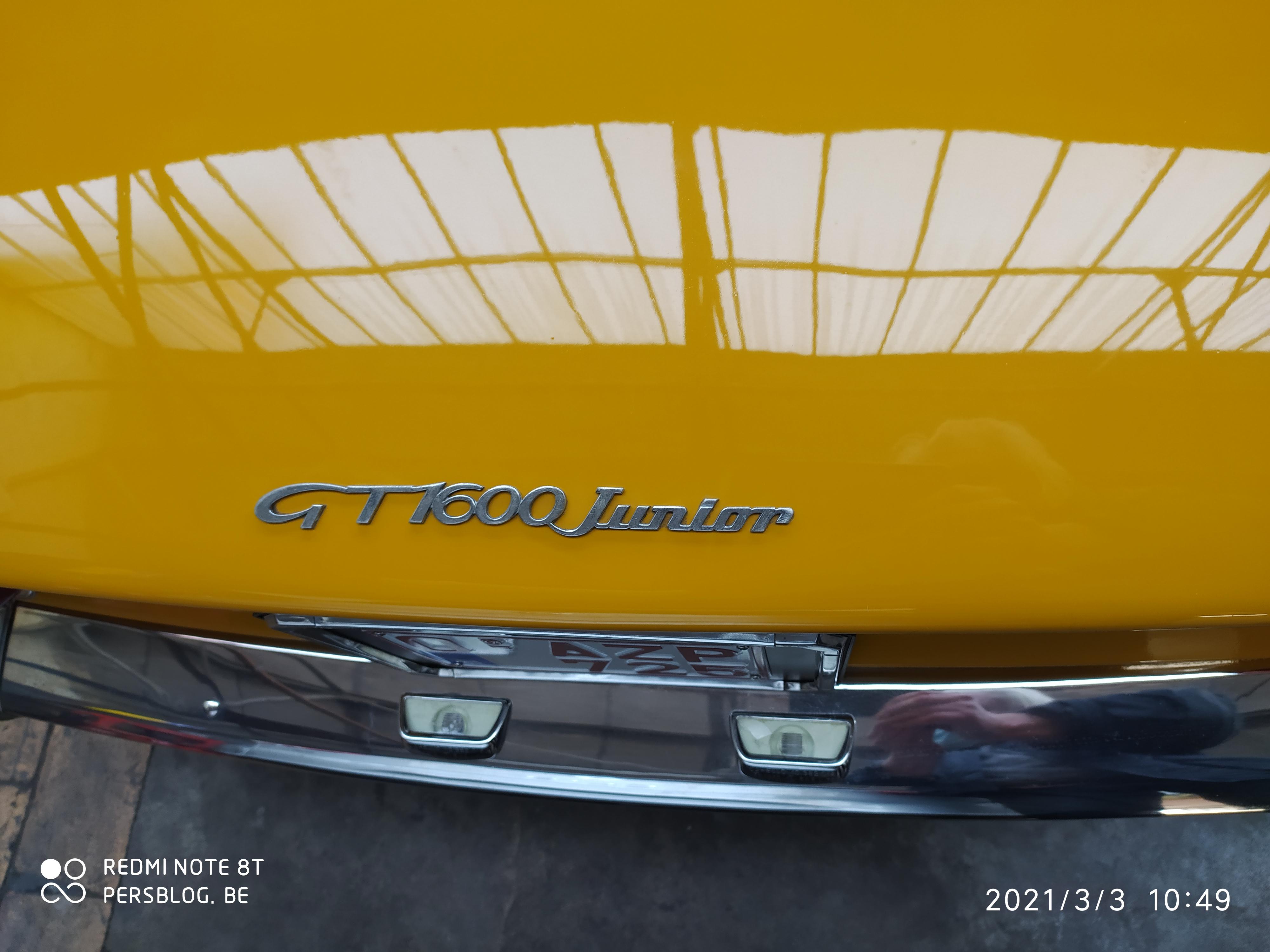 Alfa Romeo GT 1600 junior - Garage De Stoop